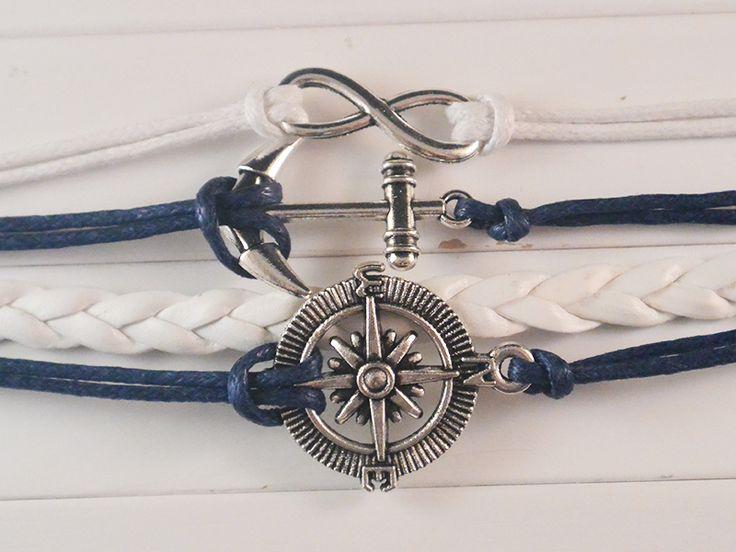 Marine - een geinige armband helemaal gericht op varen en zee. Met infinity, ankertje en kompas. Nu verkrijgbaar op www.yourfrosting.com