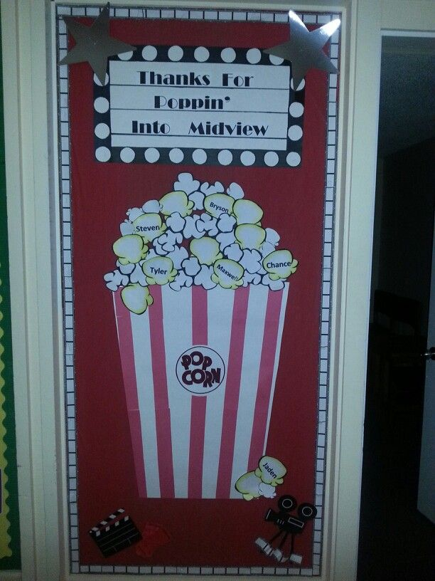 Classroom Theme Ideas High School ~ Best ideas about popcorn bulletin boards on pinterest