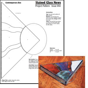 Free Stained Glass News Pattern #41 - Contemporary Glass Box Pattern