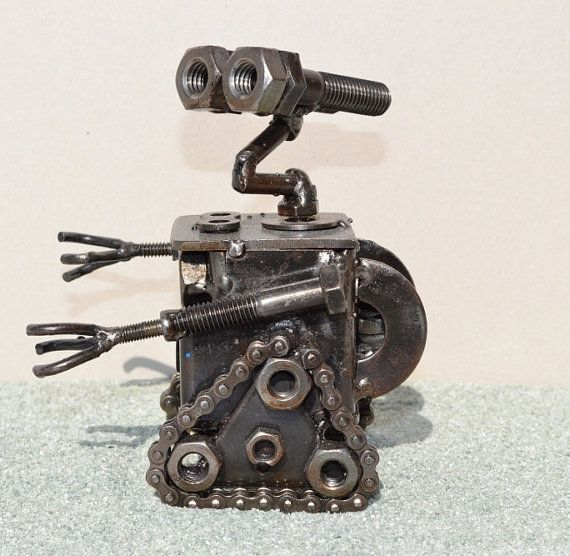 Hand Made WALLE 55 Inches Recycled Scrap Metal by ScrapSculptures, $45.00 @Camryn Weeks - since you like him so well... ♣  12.6.3