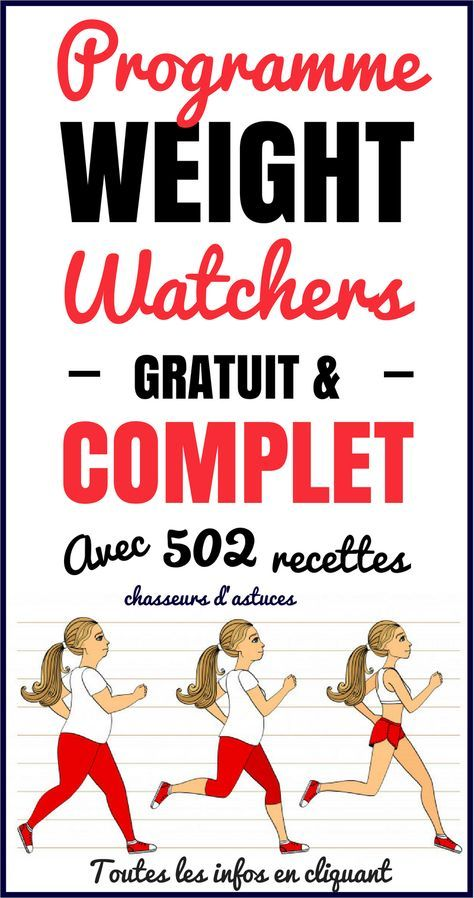 Programme Weight Watchers GRATUIT & COMPLET !