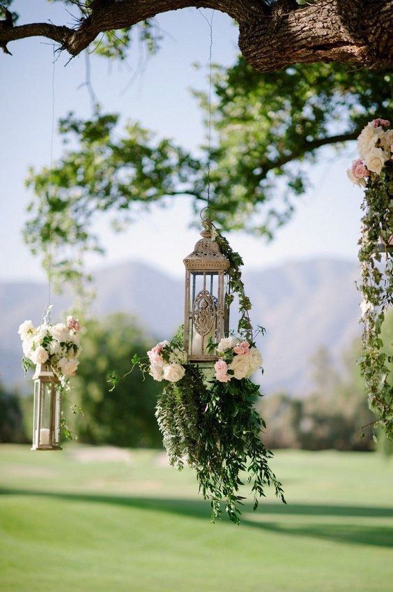 Victorian Floral Lanterns Hanging Wedding Decor / http://www.deerpearlflowers.com/hanging-wedding-decor-ideas/