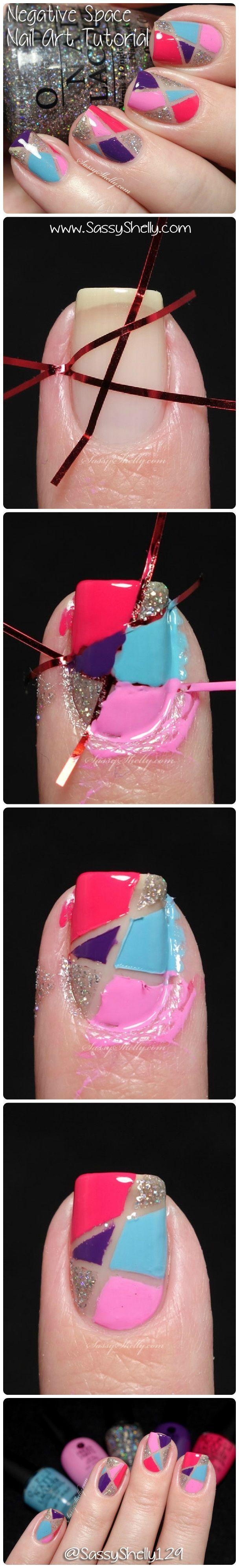 Nail Art Tutorial: geometric negative space manicure #SoCutex