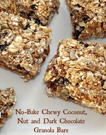 Perfect #snack for campers# ! No Bake Chewy Granola Bars #RV #camping #healthysnack