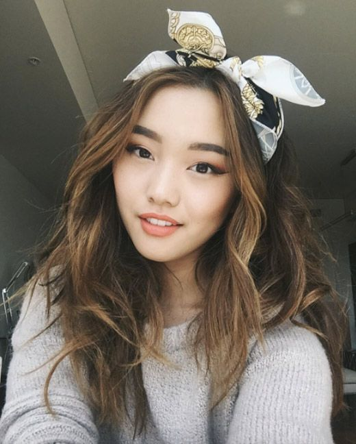 Scarf headband by Jenn Im