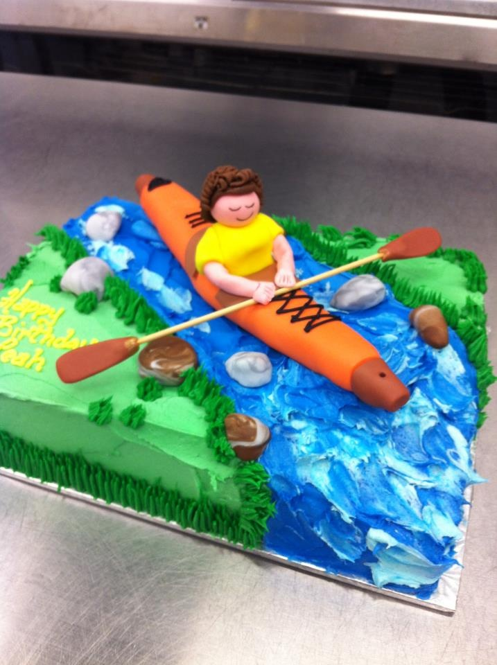 $65 kayak cake