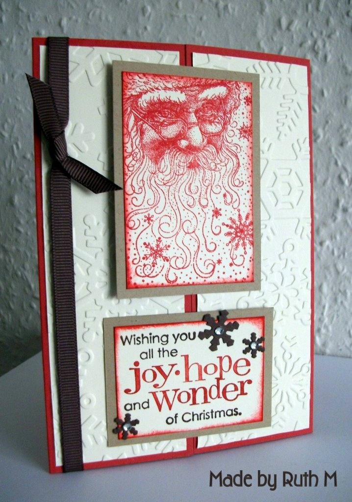 Rubber Stampede Santa Collage 249 best B