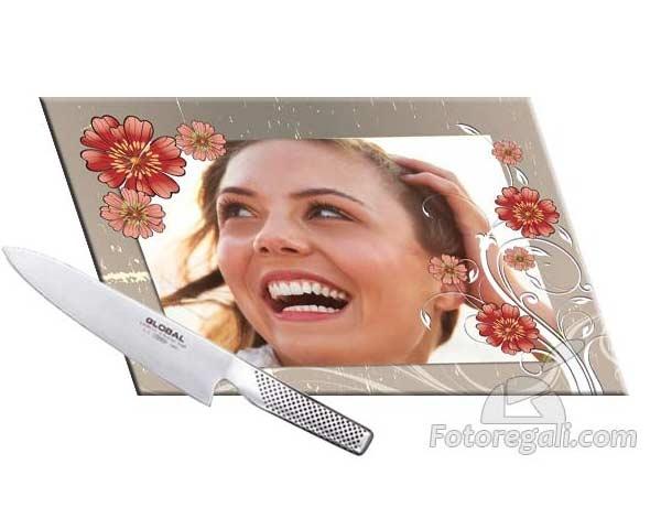 Tagliere in vetro temperato personalizzato con foto