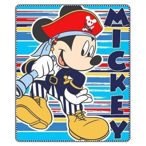 Fleece Deken Mickey Mouse Piraat