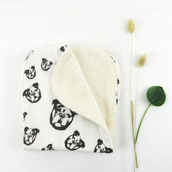 English Bulldog Burp Cloths Organic Muslin And Organic Terry