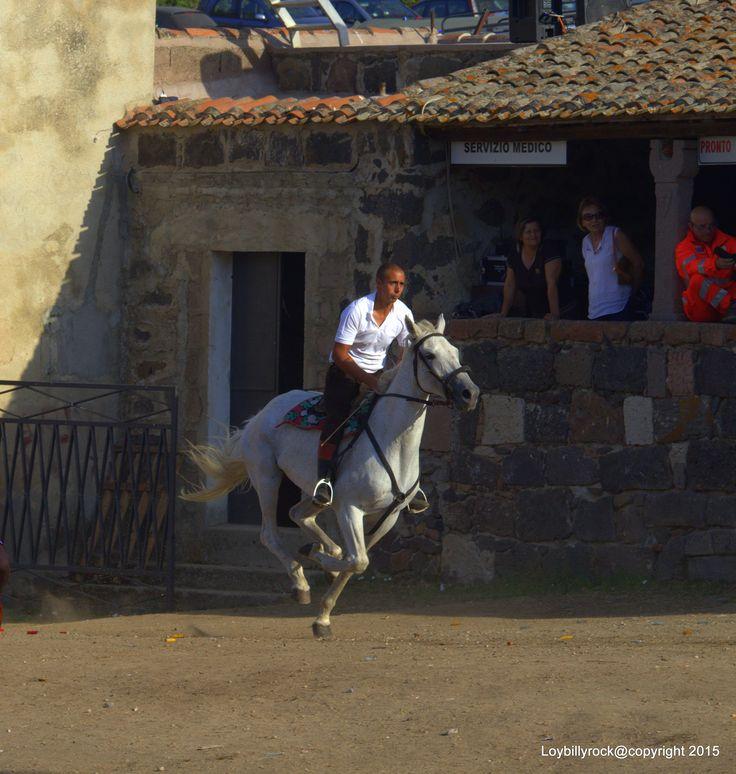 Sullo sfondo antica cumbessia nel villaggio di San Costantino, Sedilo