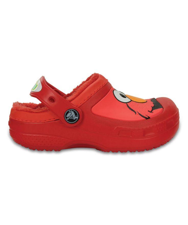 Crocs elmo flame lined clog unisex girls boys size