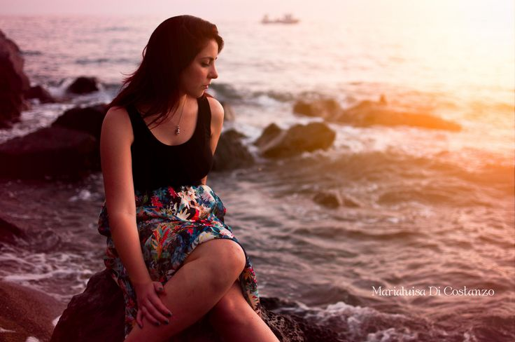 Nancy - By Marialuisa Di Costanzo More on https://www.facebook.com/marialuisadcphotography fashion model portrait beauty young sexy sea summer woman girl sunset natural light outdoor