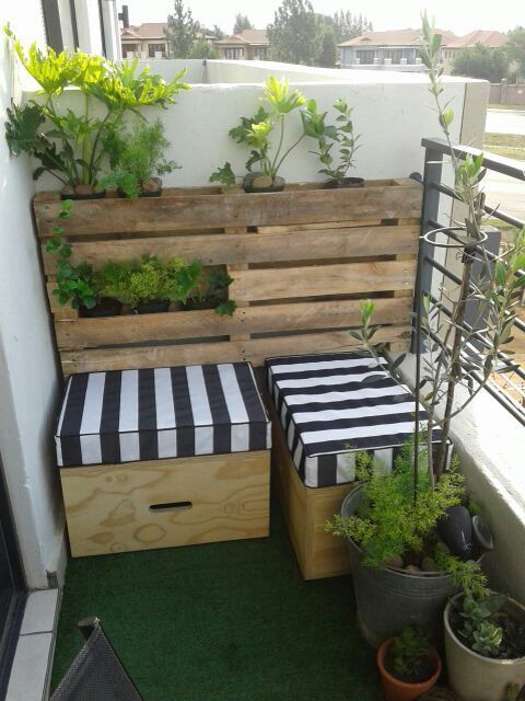 Rustic Balcony Garden