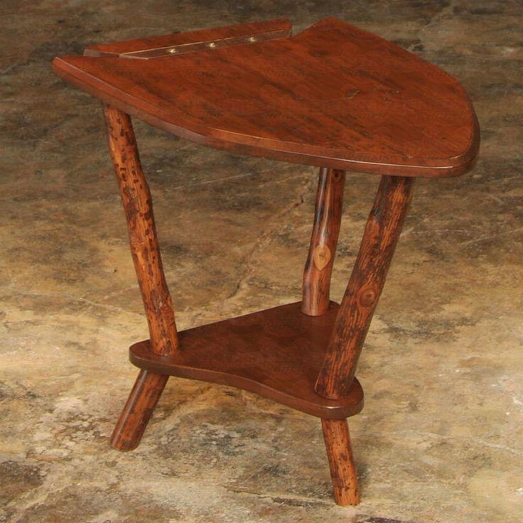 Flat Rock #Furniture Dovetail Point #EndTable #rustic #rusticfurniture      http://www.santaferanch.com/