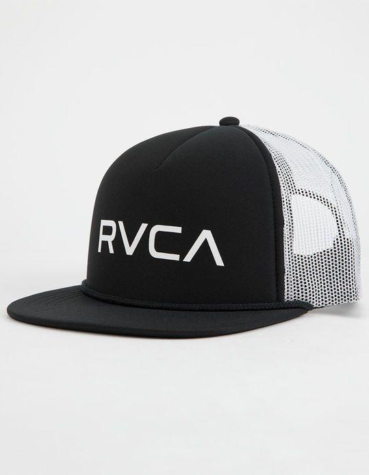 8a90b8fa78c RVCA Foamy Black And White Mens Trucker Hat - BLACK - MGAHWRFT-BKW ...