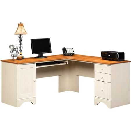 Sauder Harbor View Collection Corner Computer Desk 30 14 H x 66 18 W x 66  18 D Antiqued White by Office Depot   OfficeMax143 best Computer Desks images on Pinterest   Computer desks  . Everything Office Furniture Corner Computer Desk. Home Design Ideas