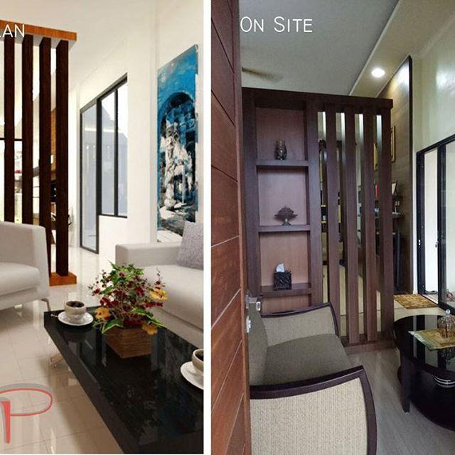 Room partition in living room🤓 Location: Pontianak Design by: Vip Studio  #vipstudio #architecture #architect #interiordesign #idea #partition #livingroom #interior