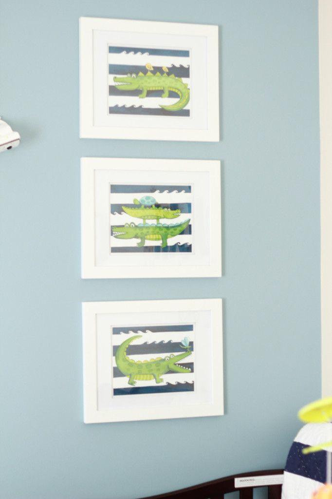 Project Nursery - Boy Alligator Nursery Alligator Wall Art