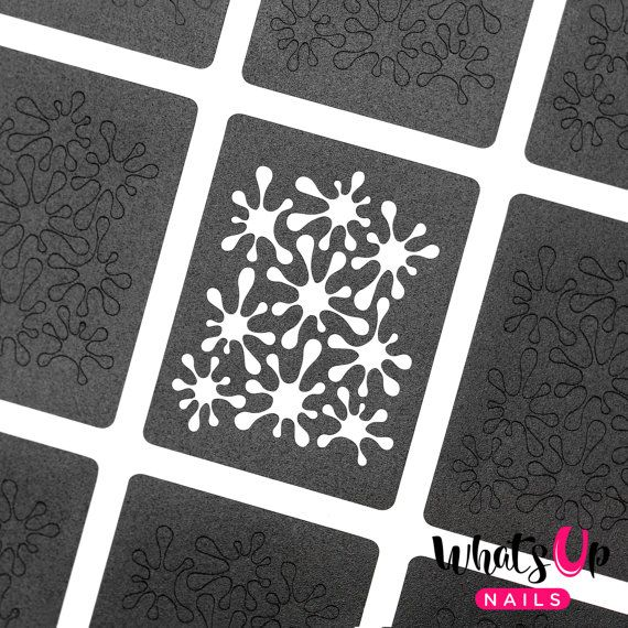 Splatters Stencils for Nails Nail Stickers Nail by WhatsUpNails