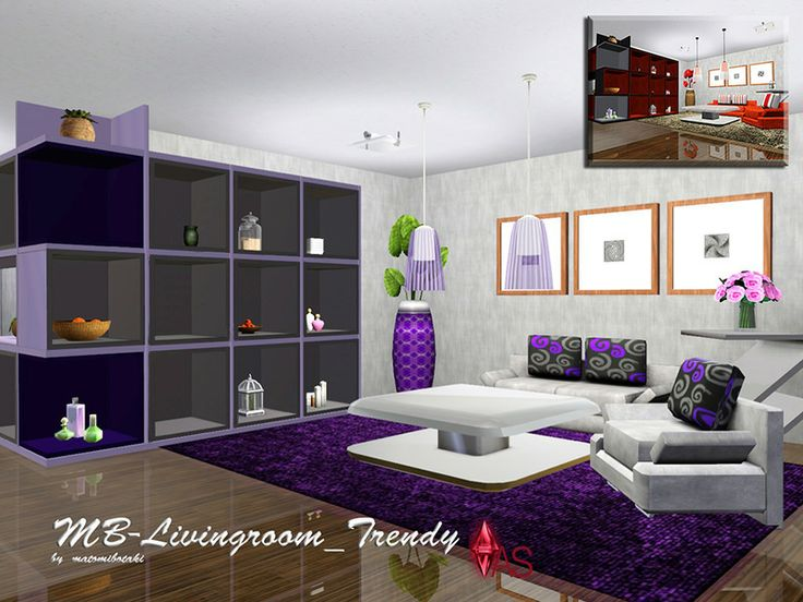 MB Livingroom_Trendy, 8 Piece, Modern Living Room Set For The Sims 3 Part 74