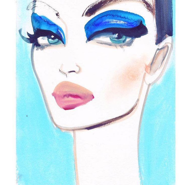 """591 Likes, 23 Comments - Astrid Vos Fashion-Art (@astridxvos) on Instagram: """"Blue velvet!!! Darkstar #darkstar006 @patmcgrathreal So cute!  @annasui @heconghc…"""""""