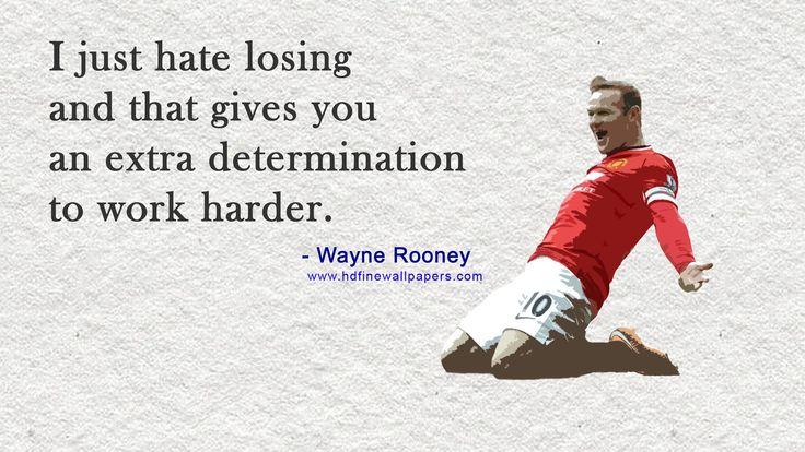 Best Quote on Work Hard HD Wallpaper By Wayne Rooney Footballer