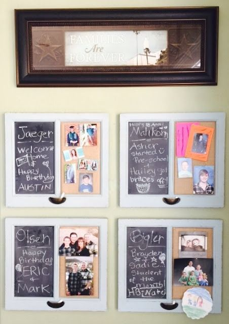 The Beehive Cottage: Changeable Family Bulletin Boards