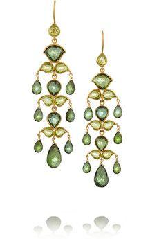 MUNNU (Gem palace) 22-karat gold tourmaline earrings | NET-A-PORTER: $8,400