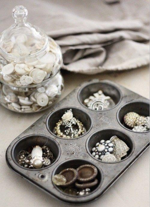 muffin tin love  jewelry storage - jewelry display - jewelry storage