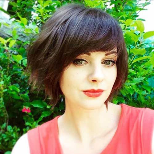 cute short bob haircuts best 25 layered side bangs ideas on side 1478 | 720b89dfb5b0026a0c1a4f884d65fece cute short haircuts bob haircuts