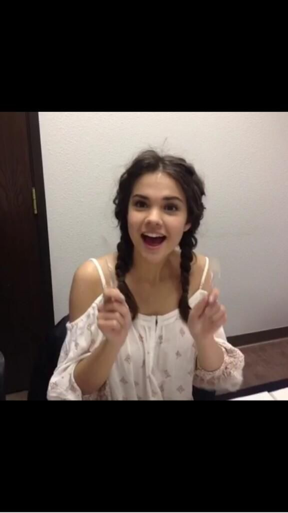 Maia Mitchell, Pig Tail braids, The fosters, Callie jacob