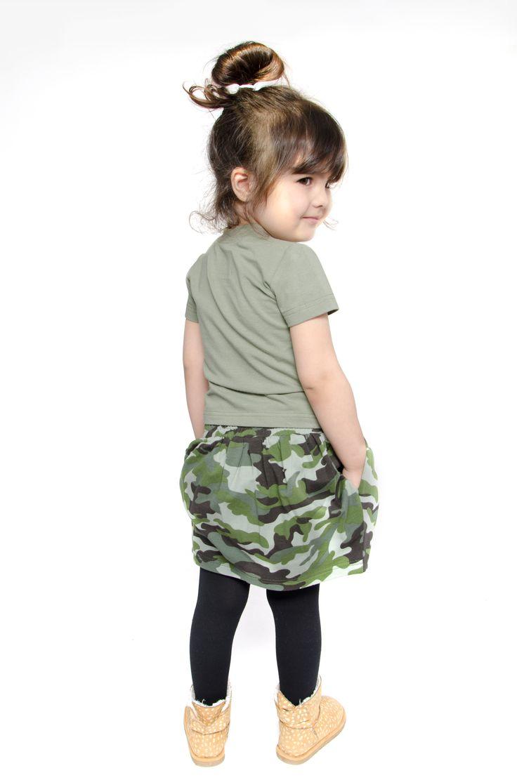 camo skirt#kids fashion# little hunter