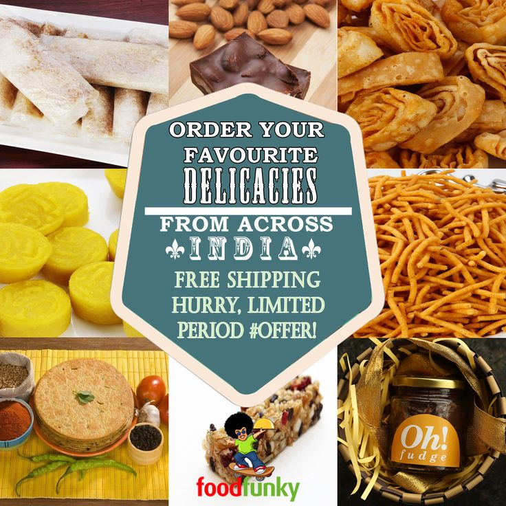 Delicacies from across India delivered to your doorstep by foodfunky.  http://foodfunky.com/ Order your Delicacies now for timely delivery. FreeShipping on all products! Hurry, limited period offer!