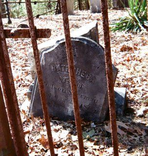 Gravestone of Bathsheba Sherman, the suspected witch who tormented the Perron Family.