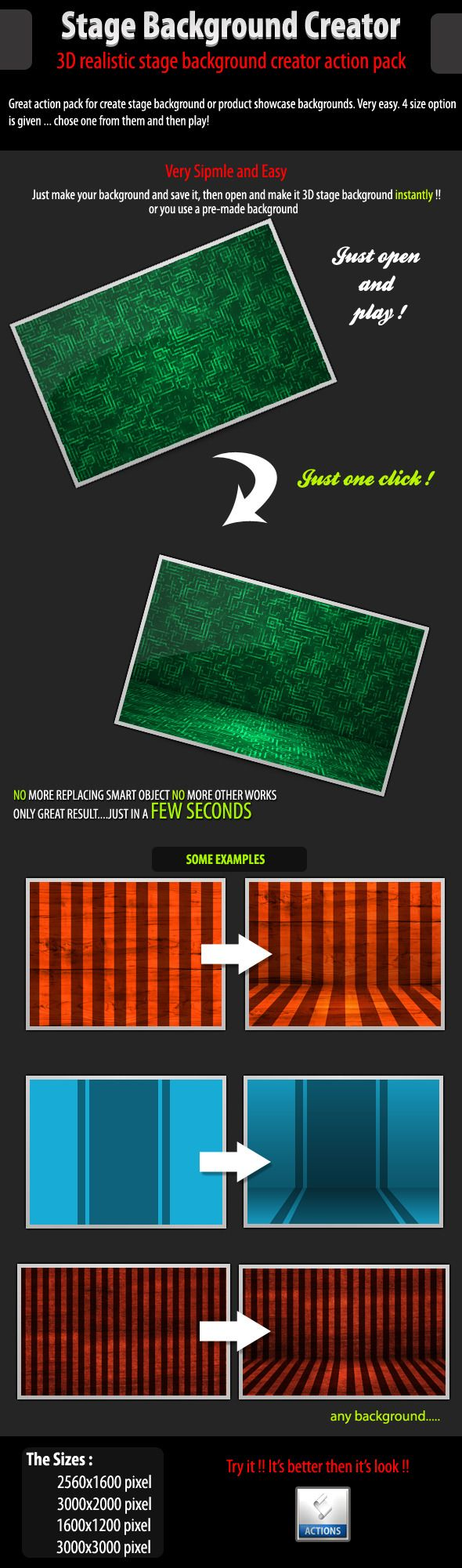 3d stage background creator