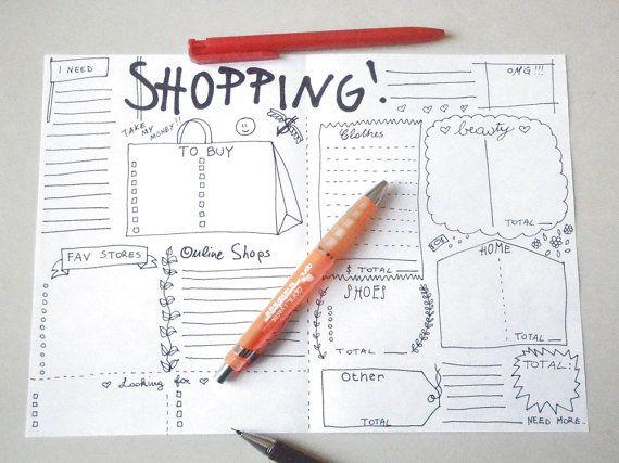 planner journal shopping bellezza make up di LaSoffittaDiSte