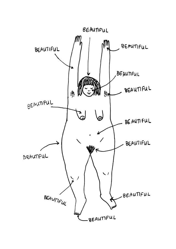 Melbourne artist Frances Cannon - huge body positivity, feminist, cool girl art lady