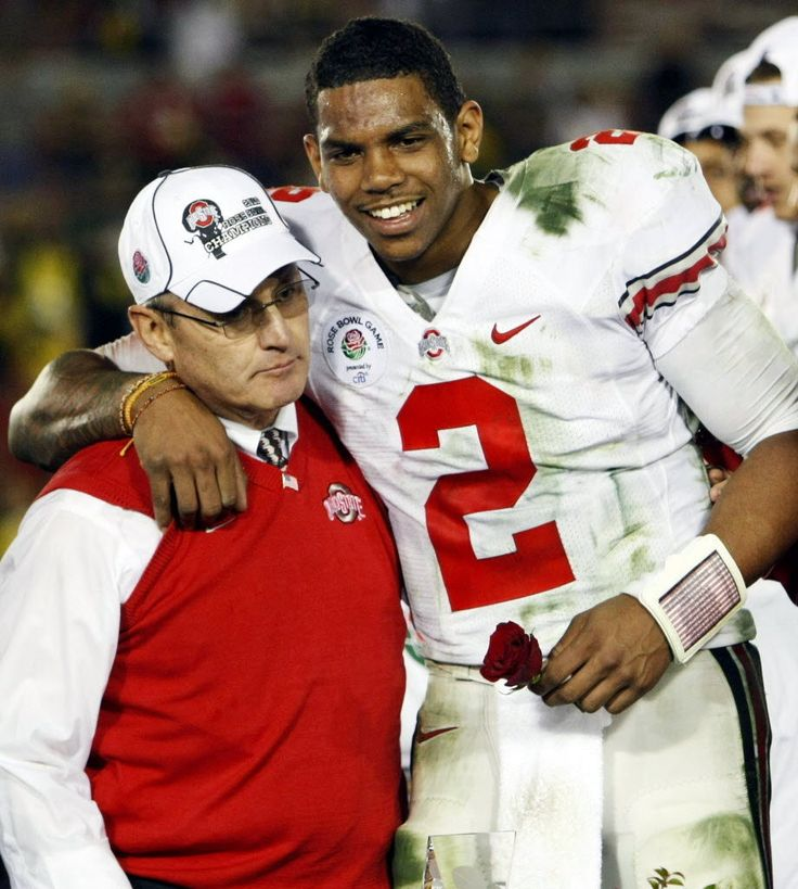 Former Ohio State head coach Jim Tressel and QB Terrelle Pryor (BRS)