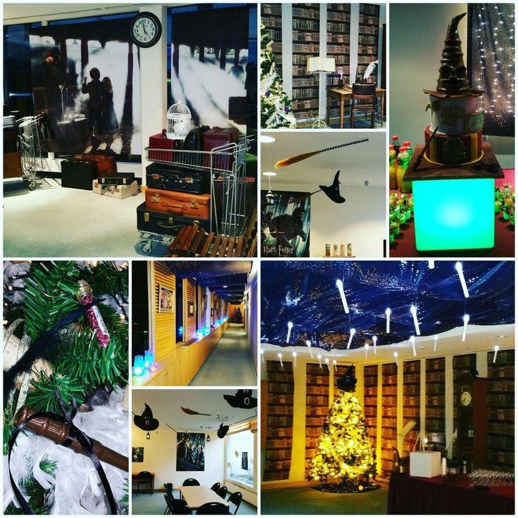 Un événement Essentiel - arbre de Noël dans un prestigieux cabinet d'avocat Paris 8ème - thème et décoration Harry Potter :  - Proposition de prestataires professionnels, négociations, Essentiel-evenements-entreprise-decoration-Harry Potter-magique-arbre de Noël-magie-Paris