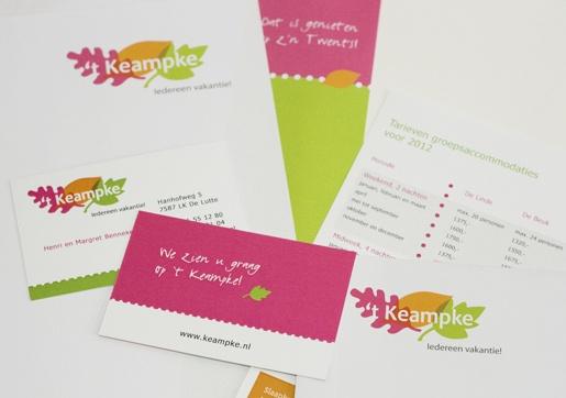 't Keampke, iedereen vakantie! Logo en huisstijl.