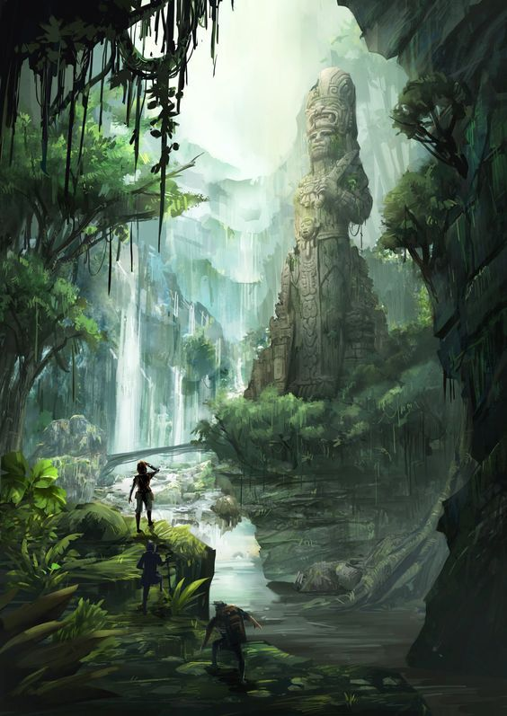 ArtStation - Mayan Jungle, TJ Foo: