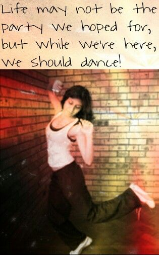 My awesome friend, dancing away