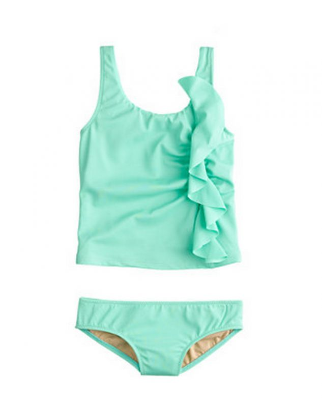 Appropriate 2-piece swimwear for little girls: This one from J Crew