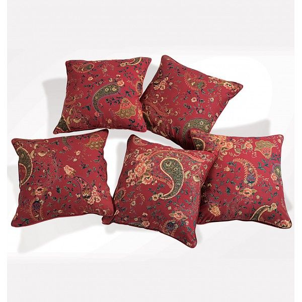 Red Blossoms Cushion Cover- Ways to make your Sofa seats more comfy & attractive.