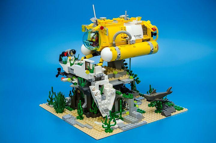 Flounder Ex 1 Lego Submarine Lego Boat Lego Design