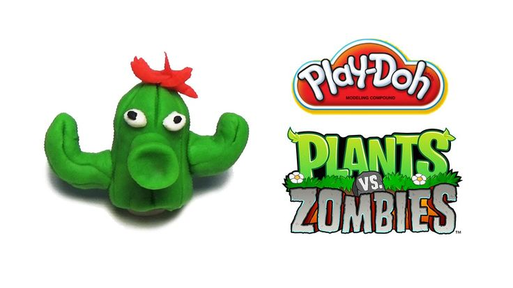 Play-Doh Plants vs Zombies Garden Warfare Cactus from Plants Vs. Zombies...