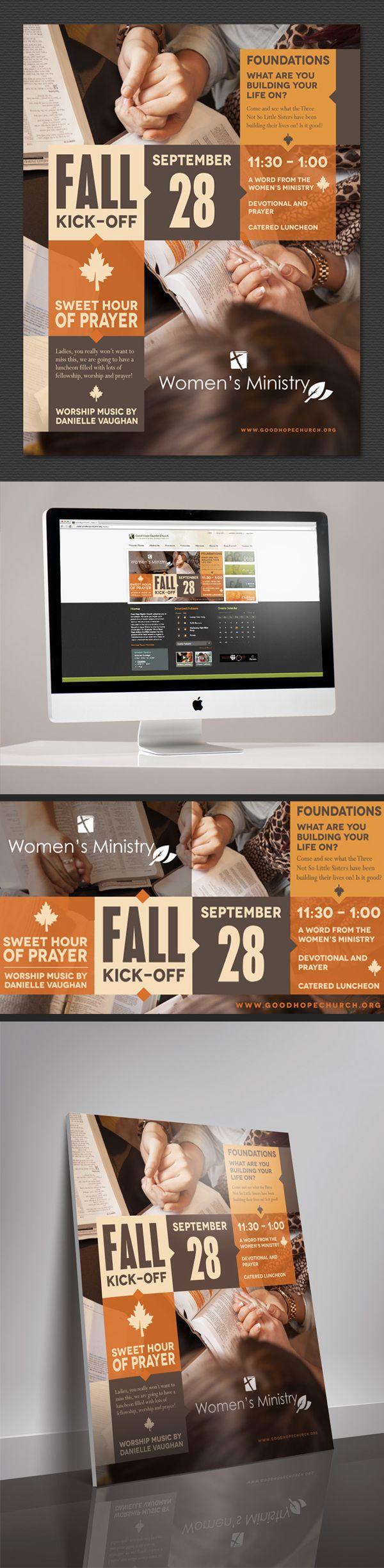 GHBC Fall Event Graphics by Carolina Reprographics , via Behance
