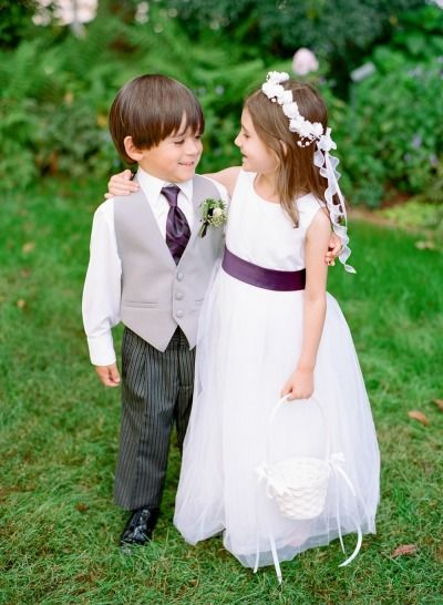Sweet flower girl and ring bearer: http://www.stylemepretty.com/little-black-book-blog/2015/01/05/romantic-autumn-fearrington-village-wedding/ | Photography:  Faith Teasley - http://www.faithteasley.com/