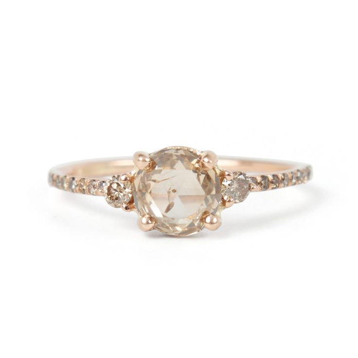 Champagne Diamond Solitaire Ring - Engagement Rings - Catbird